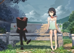 Kill la Kill, Ryuuko Matoi, Sitting, Sitting on Bench