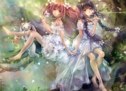 Fairies, White Outfit, Formal Outfit, Flowers