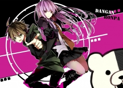 Danganronpa - Kibō no Gakuen to Zetsubō no Kōkōsei The Animation, Danganronpa The Animation, Kyōko Kirigiri, Monokuma, Makoto Naegi