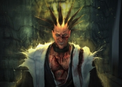 Zaraki Kenpachi, Bleach, Demon, Warriors, Grim, Blood, Evil, Evil Laugh, Shinigami, Shinigami Uniform, Spiky Hair, Kimono, Evil Smile, Gold Eyes