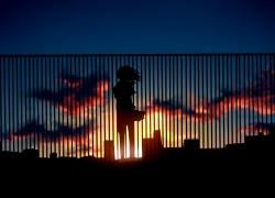 Anime, Sad, Sunset