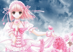 Anime anthology, Dress, Pink Hair, Short Hair, Pink Dress