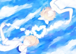 Scenery, Cloud, Girl, Fish, Sky, Wallpaper, Boy, Couple