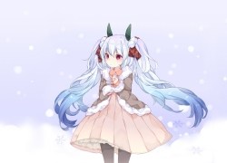Winter, Snow, Hatsune Miku