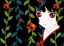 Anime, Jigoku Shoujo, Roses