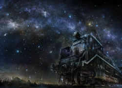 Fanart, Starry Sky, Train, Night