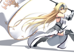 Fate/stay night, Armor, Long Hair, Blonde Hair, Blue Eyes, Thigh Highs