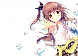Loli, Hair Ribbon, Girl, Brown Eyes, Brown Hair