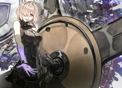 Mash Kyrielight, Fate/Grand Order, Shielder, One Eye Showing, Short Hair