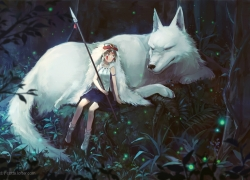 Princess Mononoke, Scenery, movie