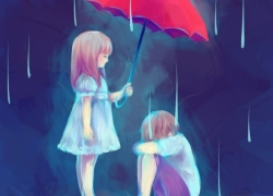 Love, Rain, Sad, Umbrella