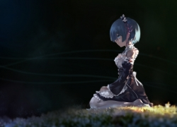 Re:Zero kara Hajimeru Isekai Seikatsu, Rem (re:zero), avamone, Short Hair, Maid, Blue Hair, Blue Eyes