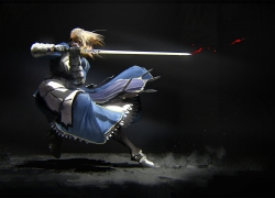 Saber, Blonde Hair, Armor, Sword, Fate Stay Night - Unlimited Blade Works, Fate/stay night, Fate/zero