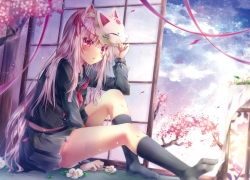 Animal Ears, Cat Ears, Pink Hair, Long Hair, Tetsu Tissue