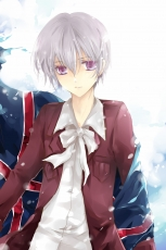 Axis Powers: Hetalia, Iceland, Studio Deen, Albino, Gray Hair, Male, White hair, Personification, Purple Eyes, Red Eyes, Short Hair, Solo, Nordic Countries