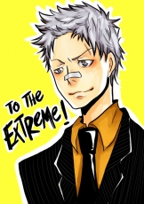 Akira Amano, Ryōhei Sasagawa, Gray Eyes, Male, Solo, White hair, Gray Hair, Short Hair, Bandages, Suit, Tie, Katekyo Hitman Reborn!