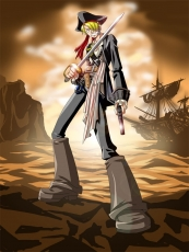 Pistol, Sanji, Blonde Hair, Short Hair, Straw Hat Pirates, Male, Solo, Gun, Weapons, Sword, Water, Ocean, Ship, One Piece