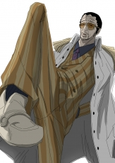 Kizaru, Short Hair, Sunglasses, Suit, White Background, Male, Solo, One Piece