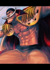 Moustache, Whitebeard, Eiichiro Oda, Male, Solo, Open Shirt, Muscles, Whitebeard Pirates, One Piece