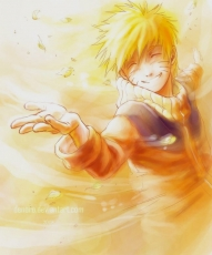 Happy, Closed Eyes, Naruto Uzumaki, Blonde Hair, Leaves, Male, Short Hair, Solo, Spiky Hair, Whiskers, Wind, Jinchuuriki, Naruto
