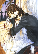 Studio Deen, Yuki Kuran, Kaname Kuran, Male, Female, Duo, Vampire, Blood, Couple, Dress, Red Eyes, Short Hair, White Dress, White Outfit, Vampire Knight