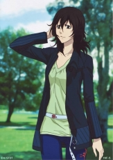 Casual, Miranda Lotto, Female, Solo, Casual Outfit, Black Eyes, Hand Behind Head, D.Gray-man