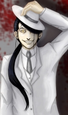 Solf J. Kimblee, Male, Solo, Ponytail, Suit, Gold Eyes, Hat, Fullmetal Alchemist