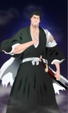 Smile, Zanpaktou, Kurosaki Isshin, Male, Shinigami, Solo, Short Hair, Open Shirt, Sword, Weapons, Bleach