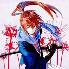 Samurai, Orange Hair, Serious, Ponytail, Katana, Sword, Weapons, Male, Solo