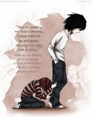 L Lawliet, Mad House, Blue Jeans, Short Hair, White Shirt, Quote, Death Note