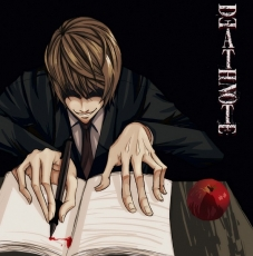 Mad House, Takeshi Obata, Light Yagami, Short Hair, Evil Smile, Apple, Kira, Takeshi Obata, Death Note