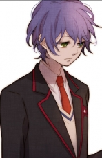 Takakura Shouma, Male, Solo, Purple Hair, Green Eyes, Suit, Mawaru Penguindrum