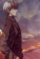 Ef - A Fairy Tale Of The Two, Himura Yuu, Minori, Male, Solo, Glasses, Gray Hair, Short Hair, Side View, Hand In Pocket
