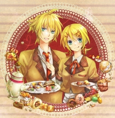 Kagamine Len, Kagamine Rin, Vocaloid, Kagamine Twins, Twins, Suit, Siblings, Female, Male, Duo, Blonde Hair, Aqua Eyes, Alternate Outfit