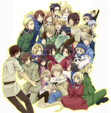 Austria, Axis Powers: Hetalia, Canada, China, France, Germany, Gilbird, Hanatamago, Iceland, Japan, Kumajirou, North Italy, Norway, Prussia, Russia, Shinatty-chan, South Korea, Spain, Studio Deen, Sweden, United Kingdom, United States, Ponytail, Puffin, Purple Eyes, Red Eyes, Short Hair, White hair, Allied Forces, Asian Countries, Axis Power Countries, Mediterranean Countries, Nordic Countries, Belarus, Denmark, Finland, Greece, Hong Kong, Hungary, Liechtenstein, Sealand, South Italy, Switzerland, Taiwan, Ukraine, Ahoge, Albino, Animal, Bird, Black Hair, Blonde Hair, Blue Eyes, Brown Hair, Cat, Duangua, Female, Glasses, Green Eyes, Group, Hair Bow, Hanbok, Little Yellow Bird, Long Hair, Male, Panda, Pink Dress