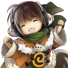 Game Arts, Happy, Grandia Online, Male, Solo, Squirrel, Tail, Adorably Cute, Animal, Brown Hair, Closed Eyes, Headphones, Kemonomimi