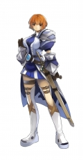 Game Arts, Gloves, Grandia Online, Armor, Boots, Female, Orange Eyes, Orange Hair, Short Hair, Solo, Sword