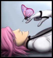 Szayel Aporro Granz, Espada, Male, Pink Hair, White Outfit, Tite Kubo, Arrancar Clothes, Bleach, Butterfly, Glasses