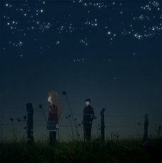 Taiga Aisaka, Takasu Ryuuji, Night, Toradora!, Night Sky, Female, Stars (Sky), Brown Hair, Long Hair, Male