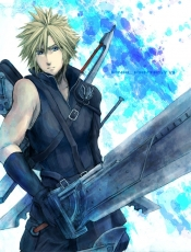 Final Fantasy VII, Square Enix, Blonde Hair, Buster Sword, Sword, Cloud Strife, Male, Short Hair
