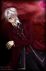 Zero Kiriyuu, Male, Purple Eyes, White hair, Short Hair, Solo, Vampire, Vampire Knight