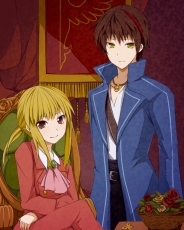 Ushiromiya Lion, Willard H. Wright, Blonde Hair, Brown Hair, Male, 07th Expansion, Umineko no Naku Koro ni, Duo, Long Hair, Short Hair, Two Males