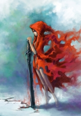 Red Riding Hood, Red Riding Hood (Characte..., Female, Cape, Weapons, Child, Sword, Little girl