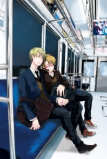 Axis Powers: Hetalia, United Kingdom, United States, School Uniform, Sleeping, Train, Closed Eyes, Train Interior, Glasses, Male, Two Males, Holding Hands, Leaning, Short Hair, Allied Forces, Ahoge, Blonde Hair, Couple, Duo