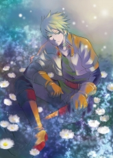 Mikuni Saho, Guy Cecil, Male, Short Hair, Tales of the Abyss, Blonde Hair, Spiky Hair, Solo