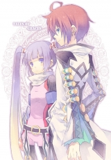Asbel Lhant, Mugura, Tales Of Graces, Short Hair, Male, Twin Tails, Purple Hair, Fanart, Duo, Sophie, Brown Hair, Female, Long Hair