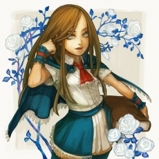 Charlotte Aulin, Flower, Sarry23, Castlevania: Portrait Of ..., White Flower, Solo, Female, Rose