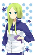 Sport Uniform, Blonde Hair, Female, Arakawa Under the Bridge, Long Hair, Blue Eyes, Fish, Nino