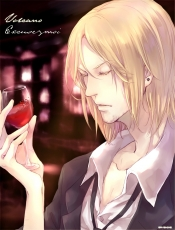 Axis Powers: Hetalia, France, Pixiv Id 519308, Alcohol, Body Piercing, Jewelry, Blonde Hair, Earrings, Solo, Closed Eyes, Male, Tie, Wine