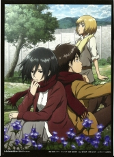 SNK, Official Art, Eren Jaeger, Attack on Titan, Armin Arlelt, Mikasa Ackerman, Shingeki no Kyojin